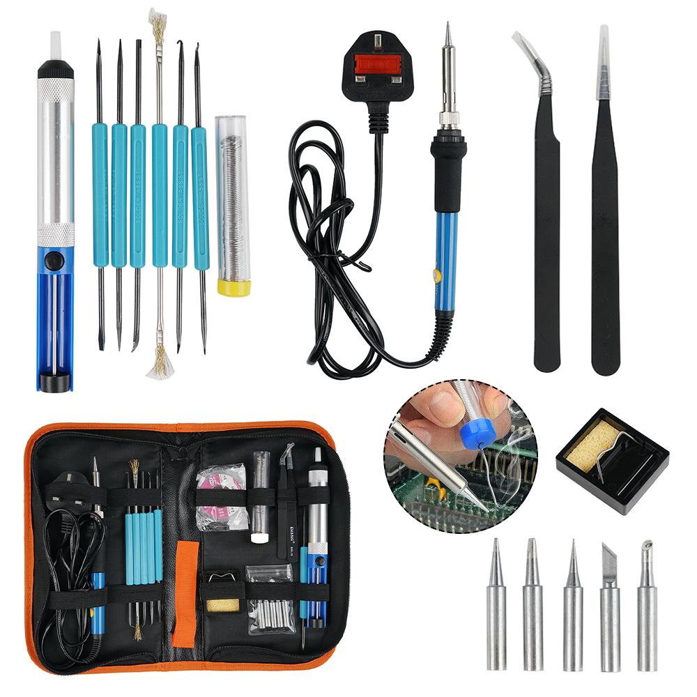 Adjustable Temperature 60W Soldering Iron Kit Electronics Welding Irons Tool